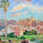 EDWIN HUNZIKER, Palma e Castello, olio su tela (1960)