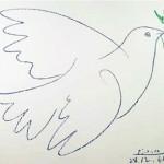 PABLO PICASSO, Colomba della pace, matita grassa su carta (1961)