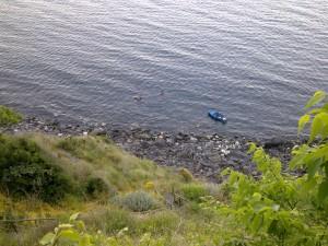 Spiaggia Acqua del Ferro vista dall'alto