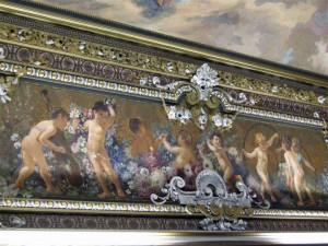 Palazzo Beneventano, volta affrescata nell'Ottocento da Alessandro Abate.
