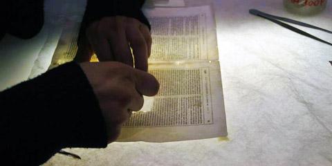 Il restauro del libro antico