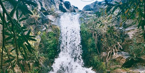 Le cascate del fiume Oxena (Militello in Val di Catania).