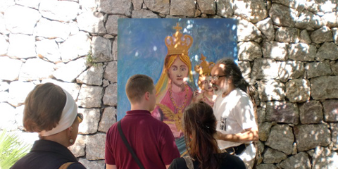 """""""Evviva la Gran Signura Maria"""". Giardini Naxos saluta la sua patrona."""