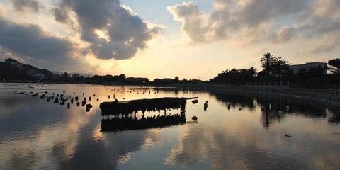 Parco del Lago nella riserva naturale di Capo Peloro
